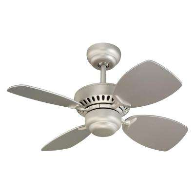 Colony II 28 in. Indoor Brushed Pewter Ceiling Fan