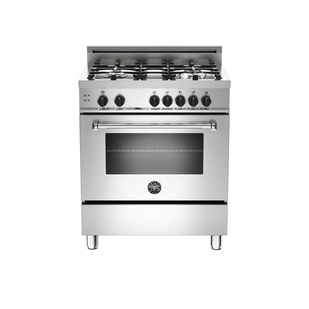 30 in. 3.6 cu. ft. Dual-Fuel Basic Range with Manual Clean