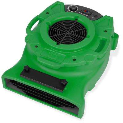 1/4 HP Low Profile Air Mover for Water Damage Restoration Carpet Dryer Floor Blower Fan in Green (90-Pack)