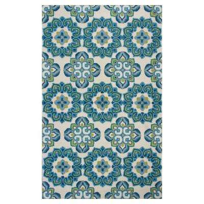 Garden Path Ivory 3 ft. 3 in. x 5 ft. 3 in. Area Rug