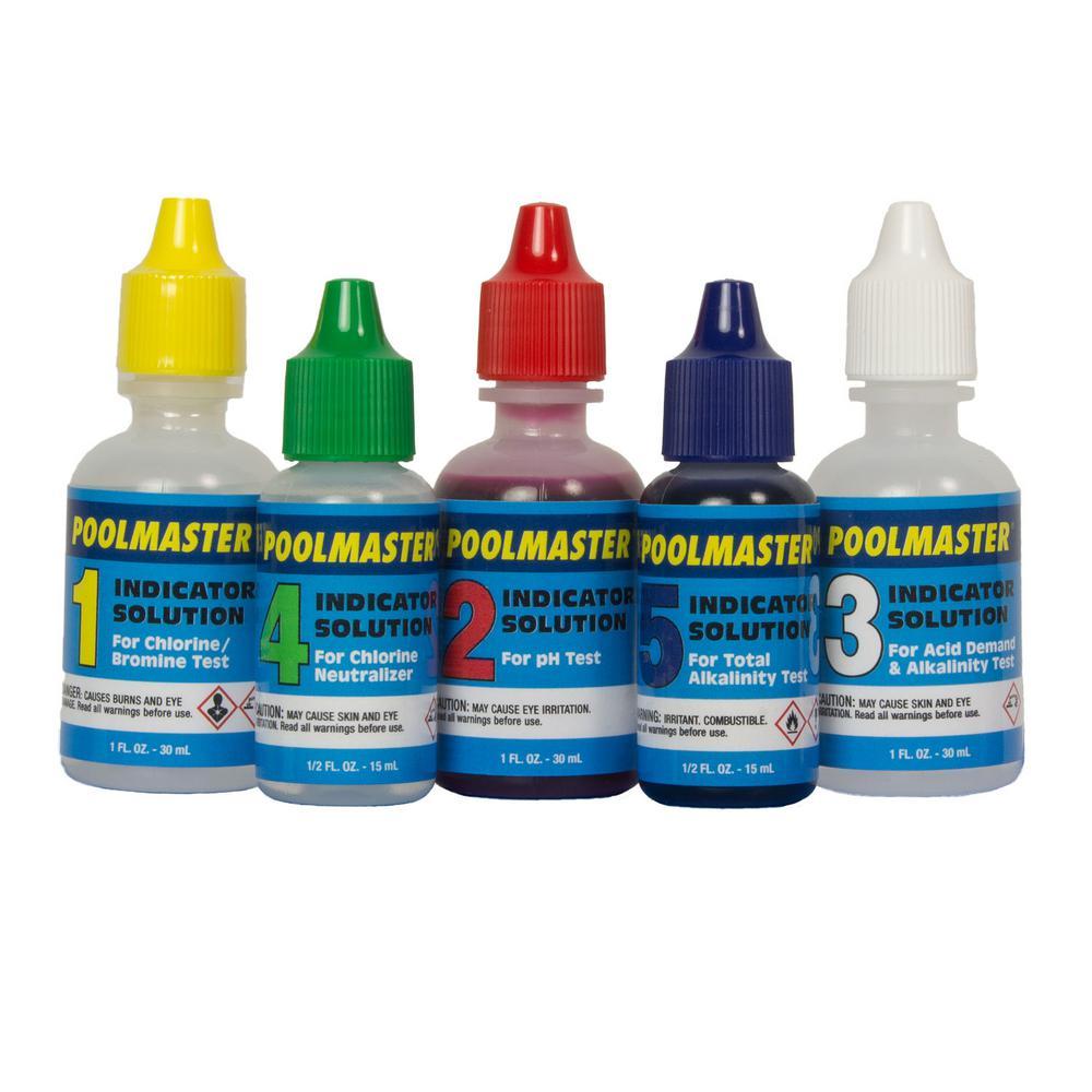 Poolmaster 22260 5-way test kit manuals.