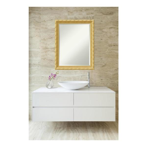 Amanti Art Versailles Gold Wood 22 In X 28 In Traditional Bathroom Vanity Mirror Dsw4016441 The Home Depot
