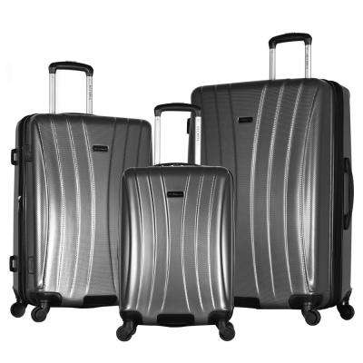 Brighton 3-Piece Gray Expandable Hard Case Spinner Set