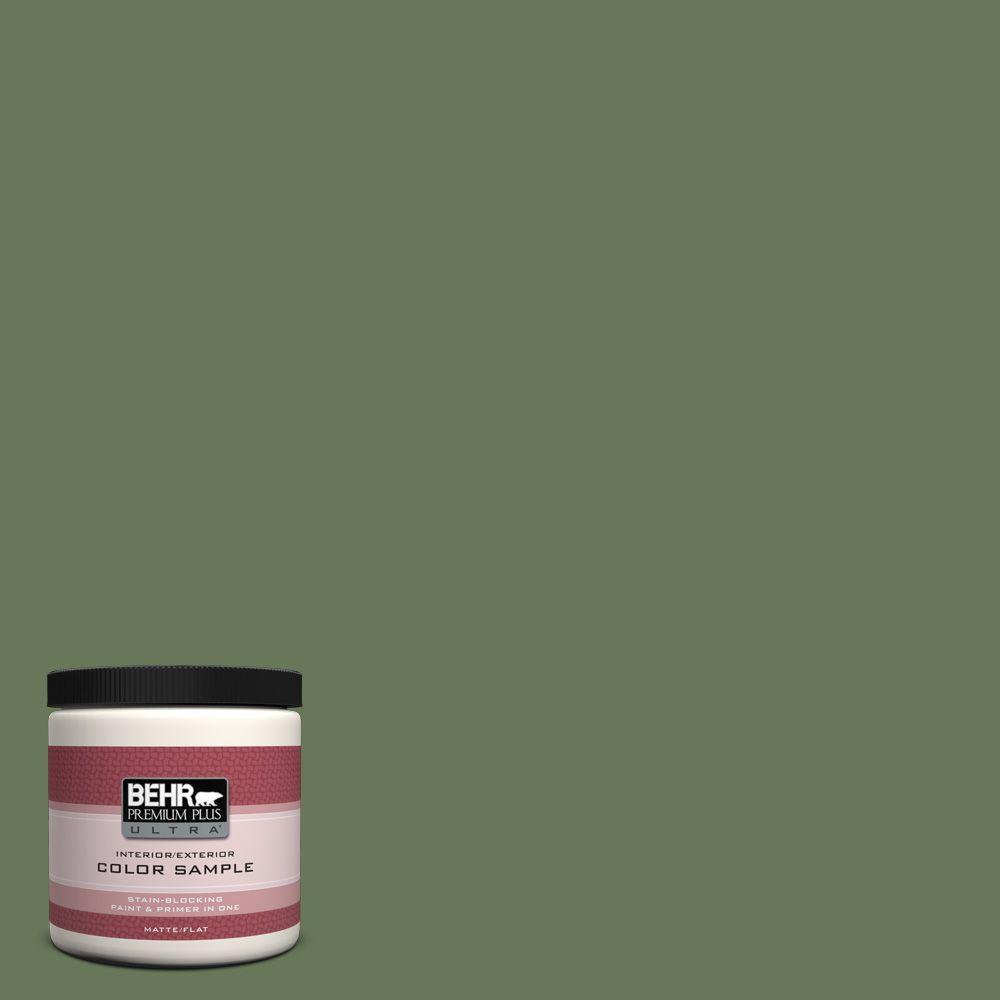 8 oz. #PPU10-1 Scallion Matte Interior/Exterior Paint and Primer in One