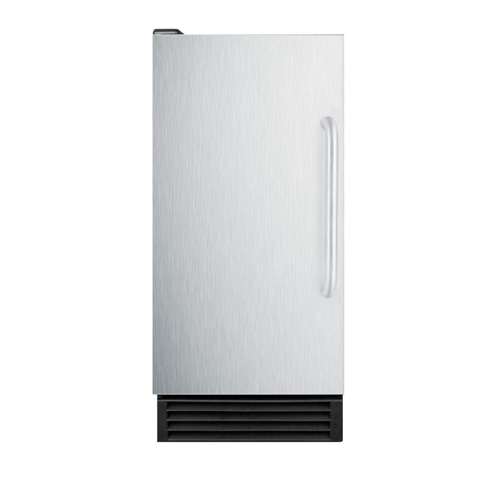 Summit Appliance 15 in. 44 lb. Built-In Icemaker in Stainless Steel