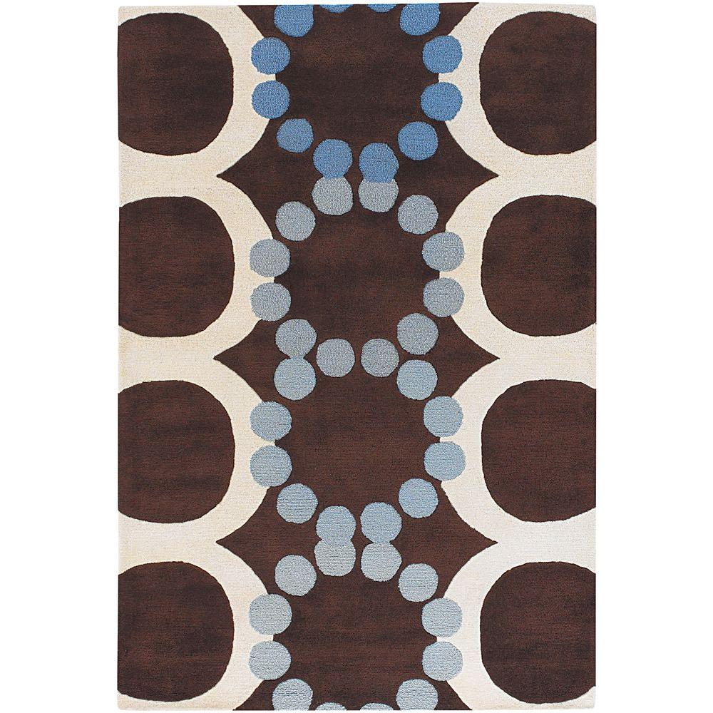 Avalisa Brown/White/Blue 5 ft. x 7 ft. 6 in. Indoor Area