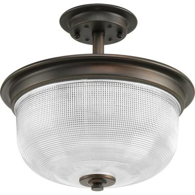 Archie Collection 2-Light Venetian Bronze Semi-Flush Mount
