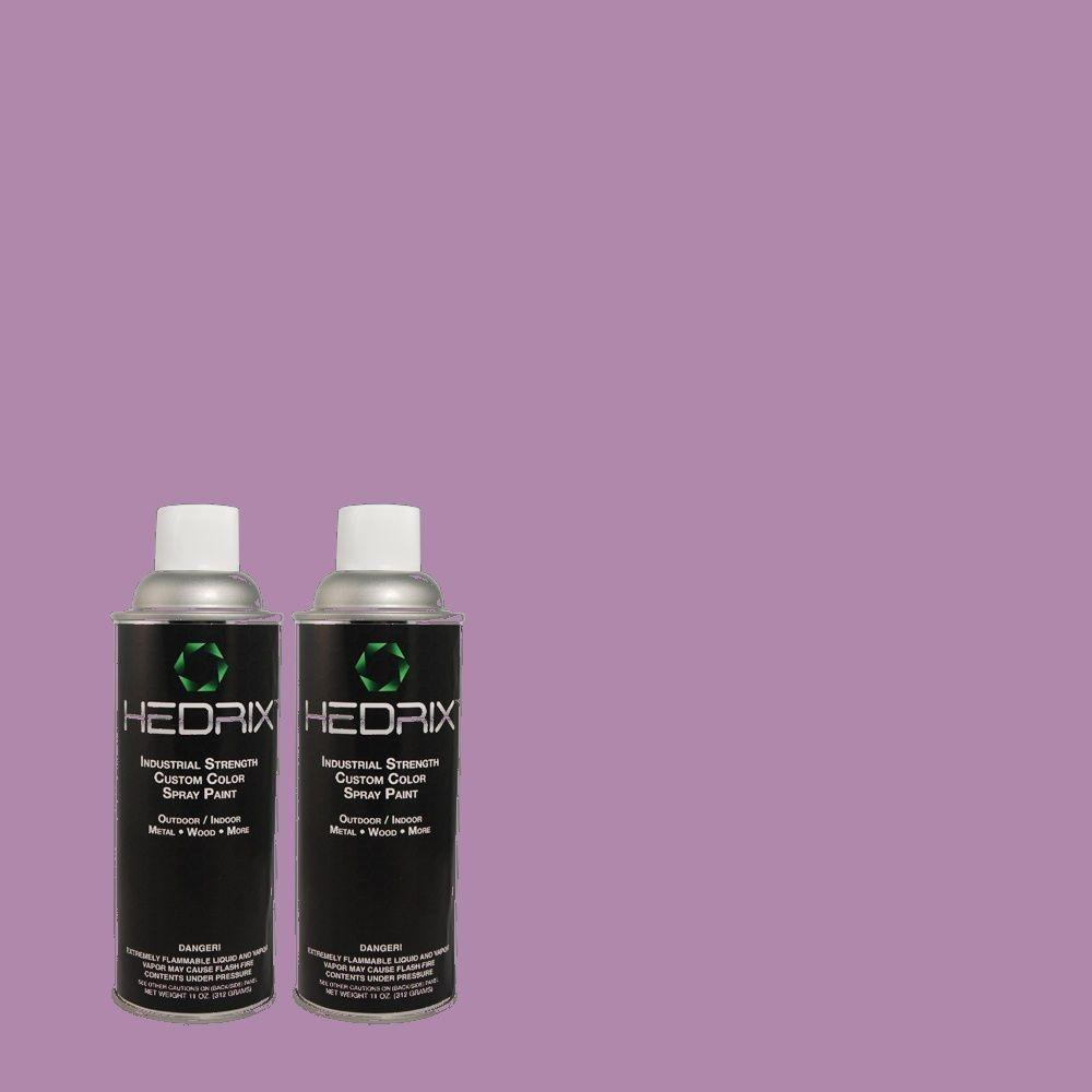 Hedrix 11 oz. Match of 1A33-5 Radiant Orchid Low Lustre Custom Spray Paint (2-Pack)