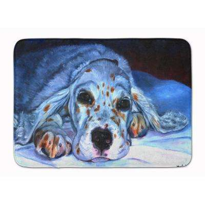 19 in. x 27 in. English Setter Pup Machine Washable Memory Foam Mat