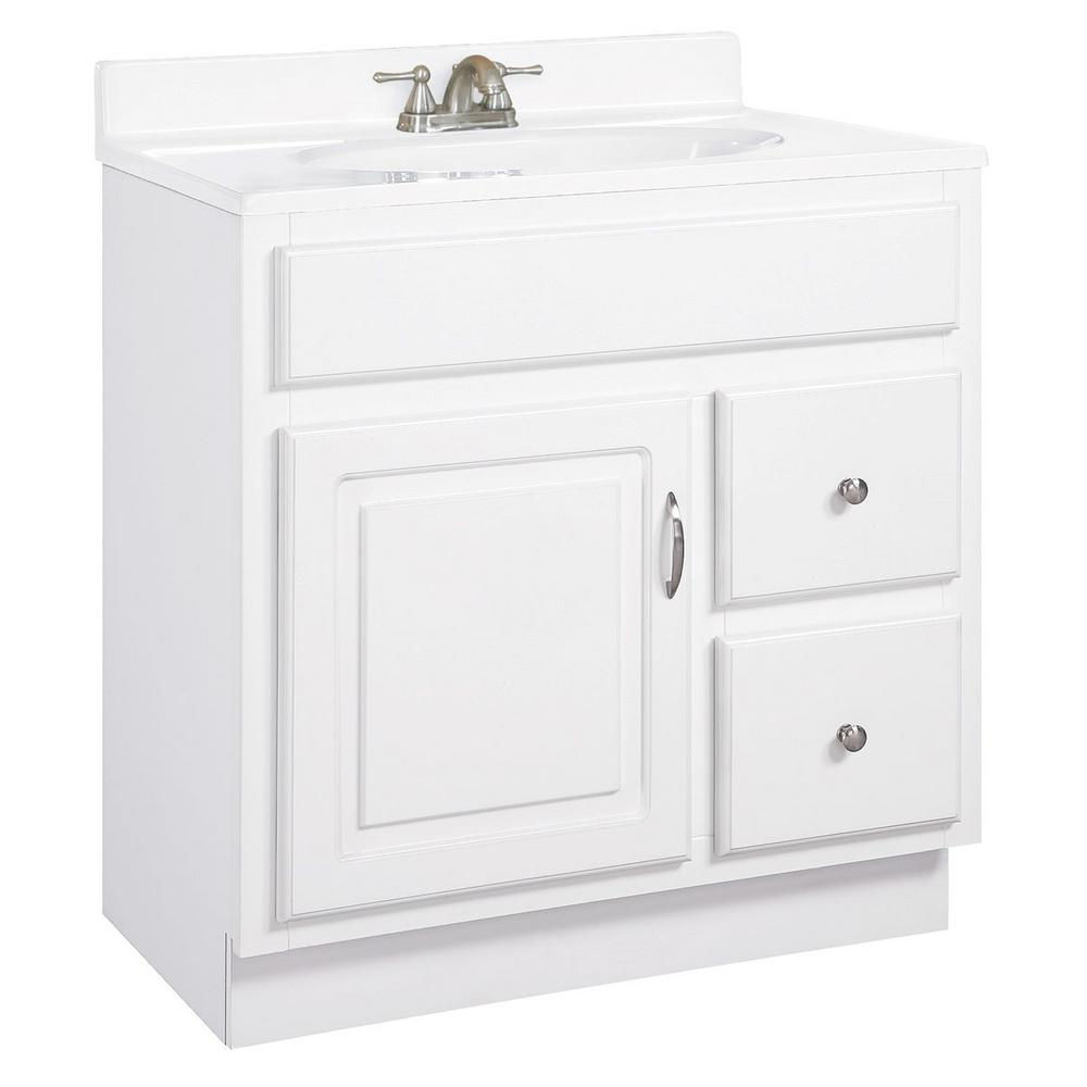 Design house concord 30 in w x 21 in d unassembled - Unassembled bathroom vanity cabinets ...