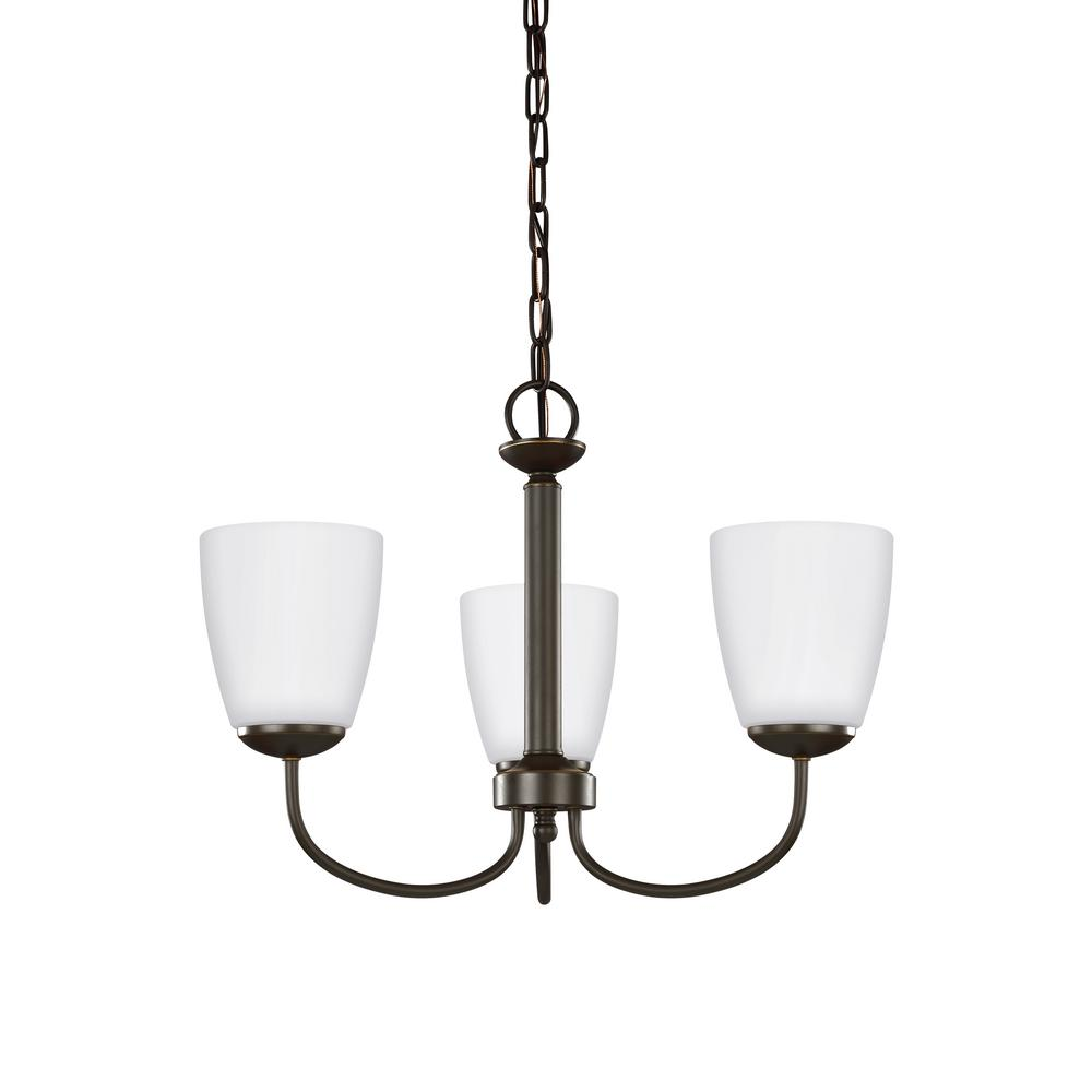 Bannock 3-Light Heirloom Bronze Chandelier