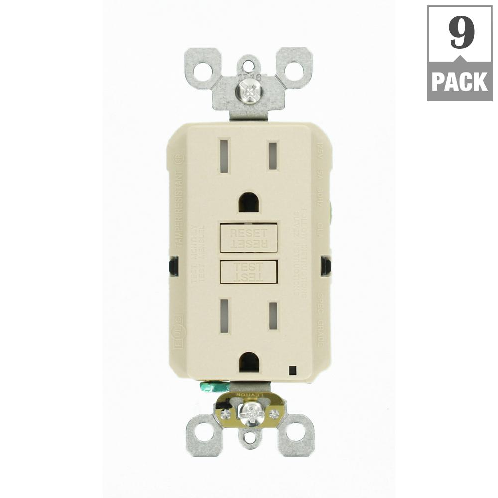 Self Grounding Electrical Outlets Receptacles Wiring Devices Leviton Light Almond Decora Triple Rocker Wall Switch Triplex 15 Amp 125 Volt Duplex Smartest Test Smartlockpro Tamper Resistant Gfci