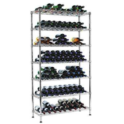 35.5 in. W x 65 in. H Steel Pantry Wine Rack (7 Rows & Holds 126 Bottles)