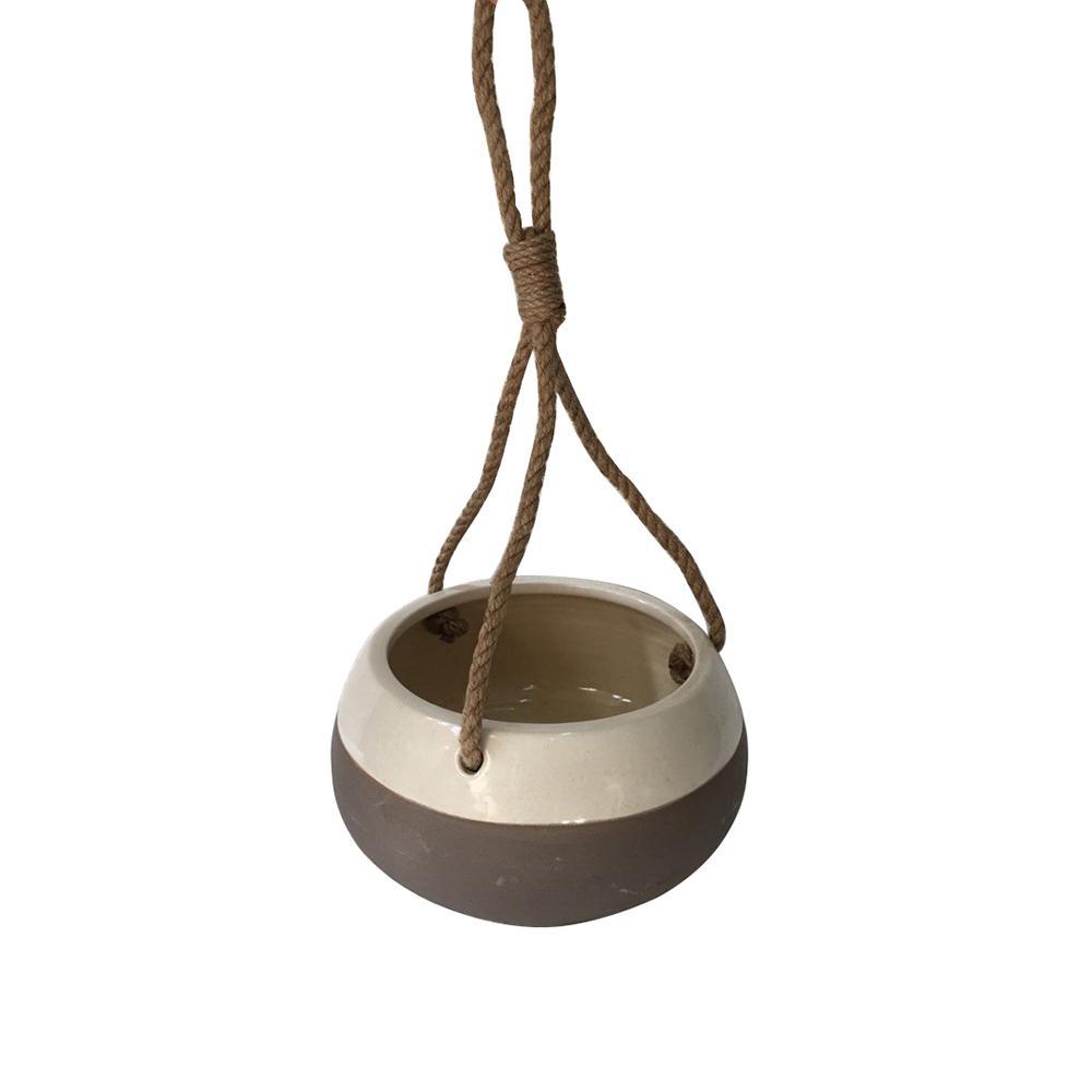 Havana 8 in. W x 4 in. H Ceramic Hanging Pot