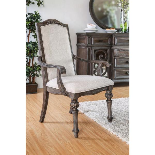 undefined Arcadia Rustic Natural Tone Transitional Style Arm Chair