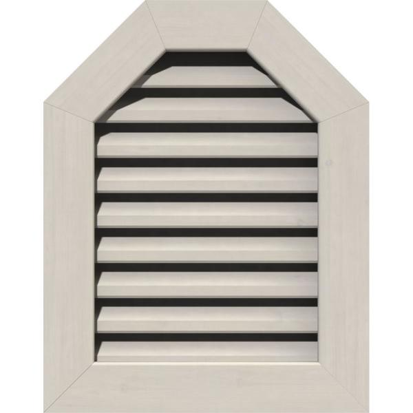 Ekena Millwork 21 X 17 Octagon Primed Smooth Pine Wood Gable Louver Vent Functional Gvwot16x1201sfppi The Home Depot