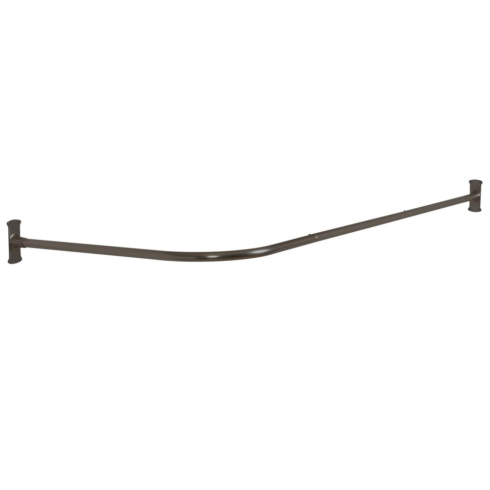 Commercial No Rust 66 in. Aluminum L Shaped Shower Rod with ...