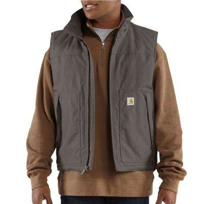 MEN'S EXTRA LARGE TALL CHARCOAL COTTON/POLYESTER QUICK DUCK JEFFERSON VEST