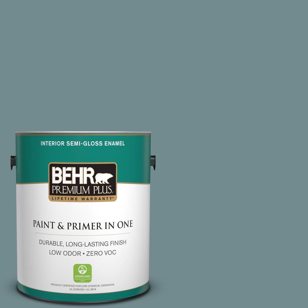 1-gal. #PPF-46 Leisure Time Zero VOC Semi-Gloss Enamel Interior Paint