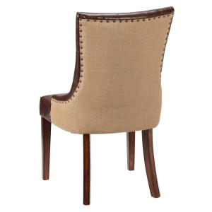 Internet #205181575. +6. Home Decorators Collection Rebecca Brown Leather  Tufted Accent Chair