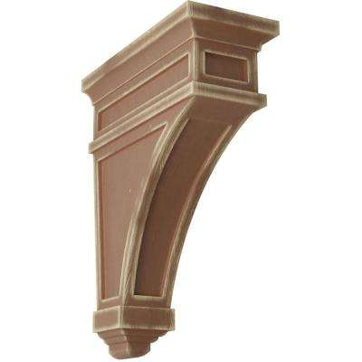 4-1/2 in. x 13-3/4 in. x 10 in. Weathered Brown Arlington Wood Vintage Decor Corbel