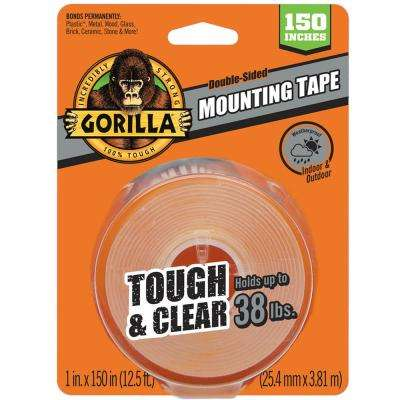 1 in. x 4 yds. Tough and Clear Mounting Tape (6-Pack)