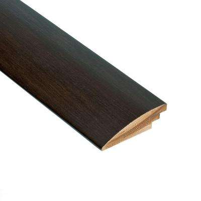 Horizontal Black 9/16 in. Thick x 2 in. Wide x 78 in. Length Bamboo Hard Surface Reducer Molding