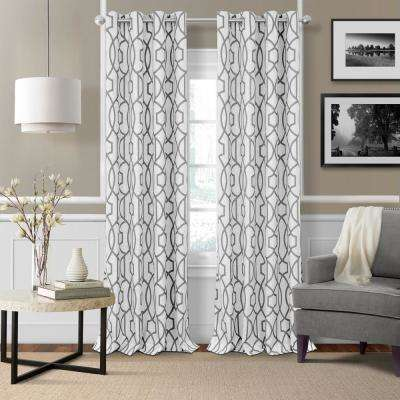 Celeste 52 in. W x 84 in. L Polyester Single Blackout Window Curtain Panel in Gray
