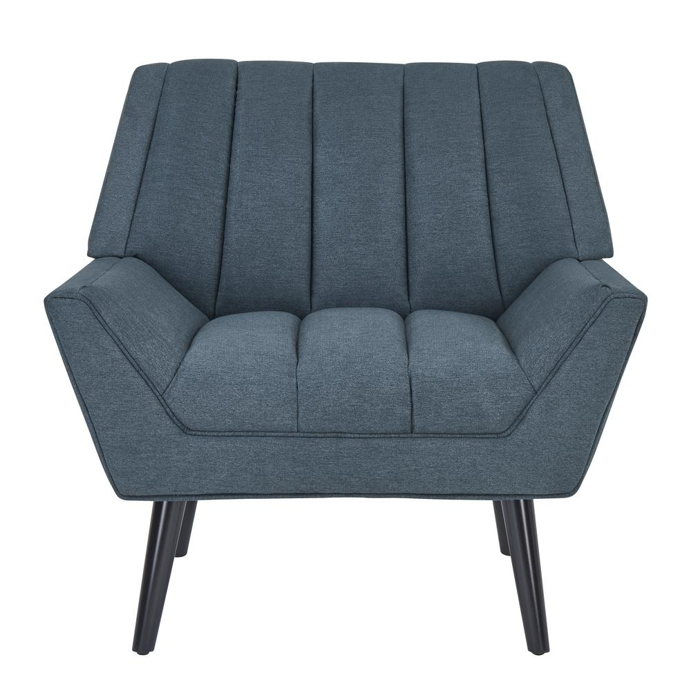 Handy living rochelle caribbean blue plush low pile velvet mid century modern arm chair 340c cnf55 275 the home depot