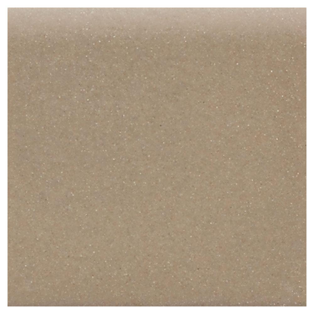 Matte Elemental Tan 6 in. x 6 in. Ceramic Bullnose Wall