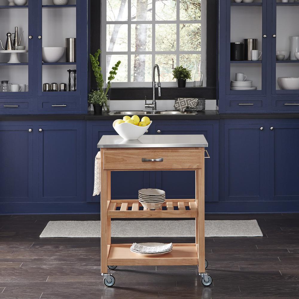 Home Styles Vineyard Natural Maple Kitchen Cart