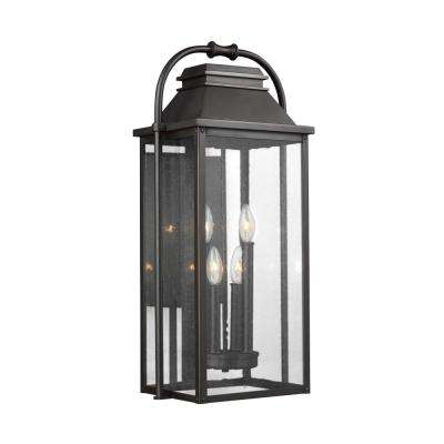 Wellsworth 4-Light Antique Bronze Outdoor Wall Lantern