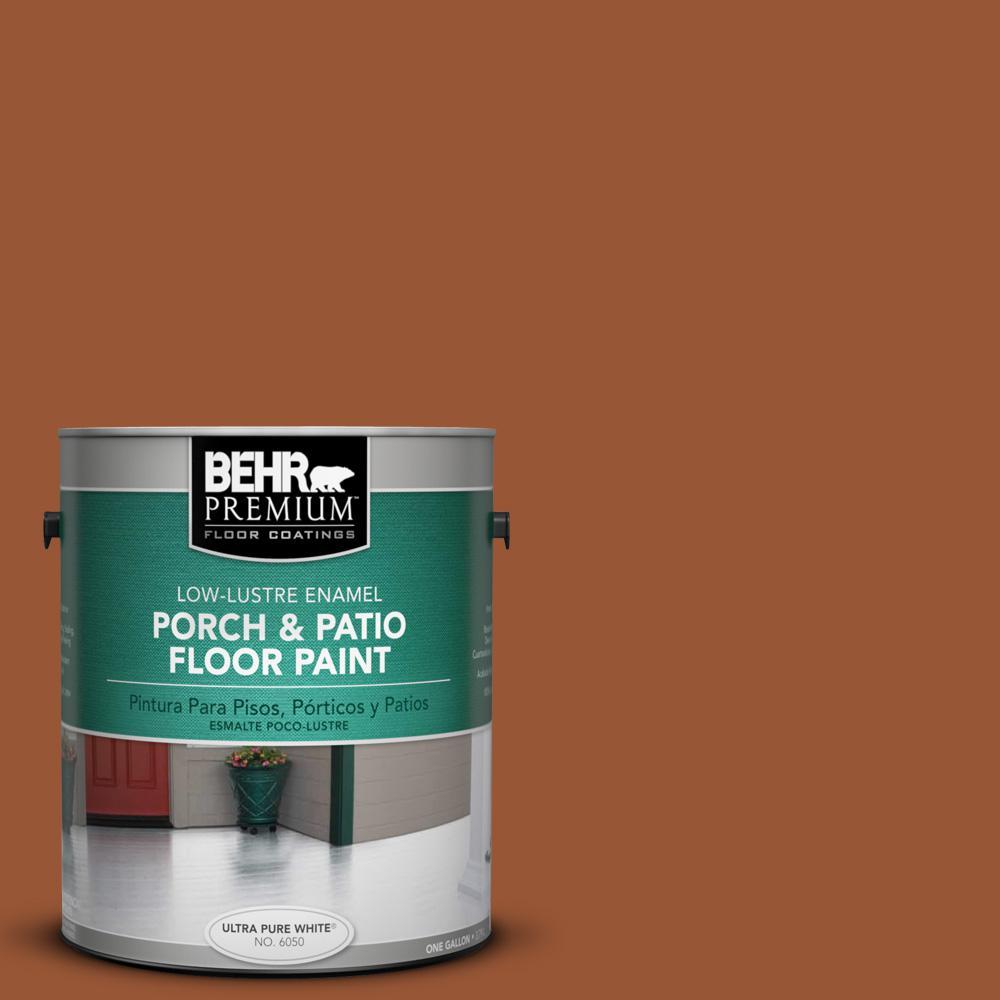 1 gal. #230D-7 Cinnamon Brandy Low-Lustre Porch and Patio Floor Paint