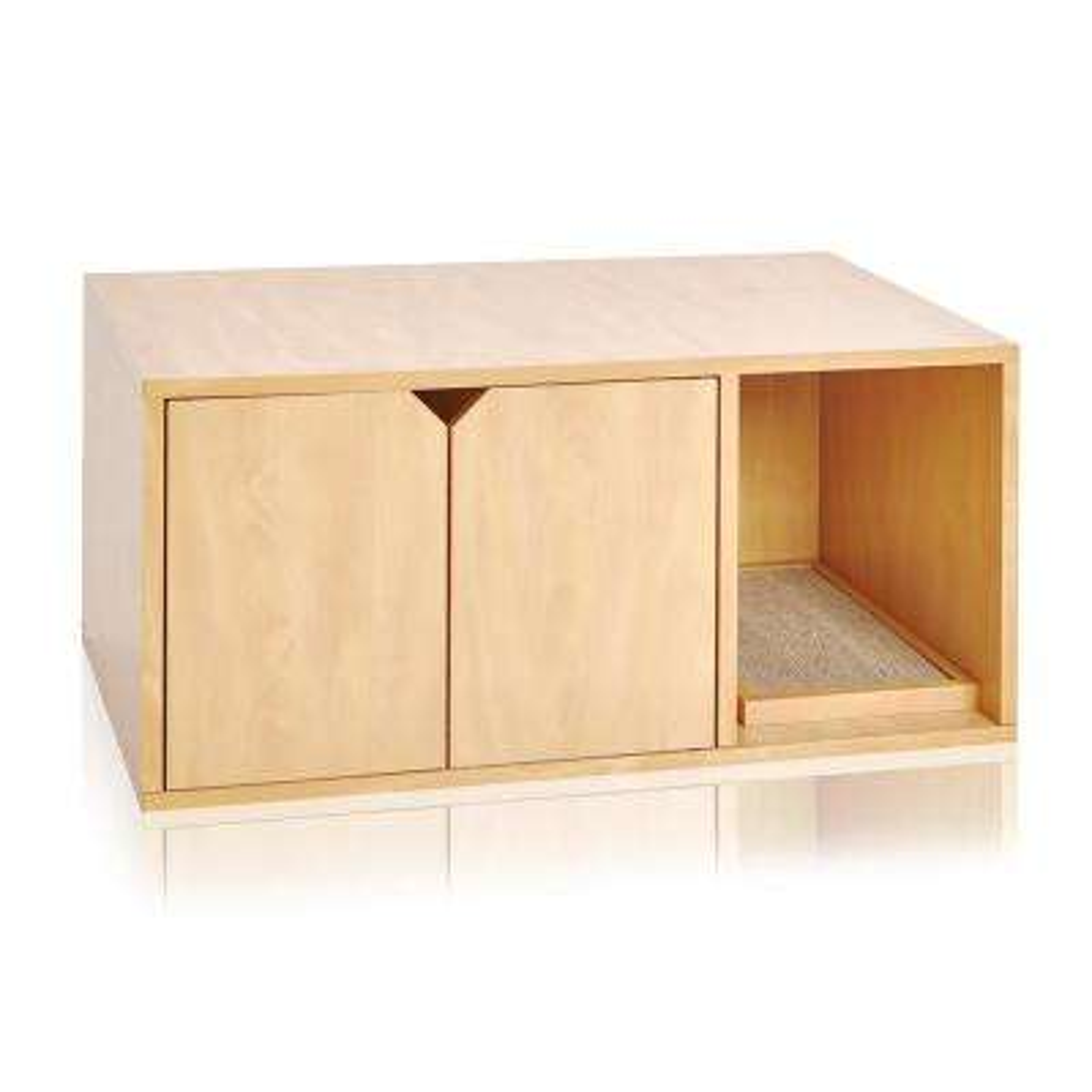 Eco zBoard Natural Modern Cat Litter Box Enclosure Furniture