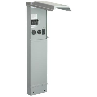 RV Pad Mount Pedestal with 50 Amp and 30 Amp RV Receptacles and 20 Amp GFCI Receptacle