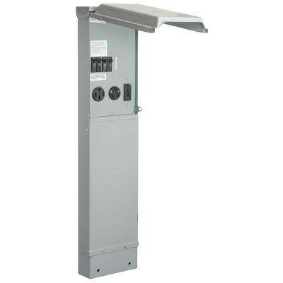 RV Pad Mount Pedestal with 100 Amp 120/240-Volt Panel with 50, 30 and 20 Amp GFCI Receptacle