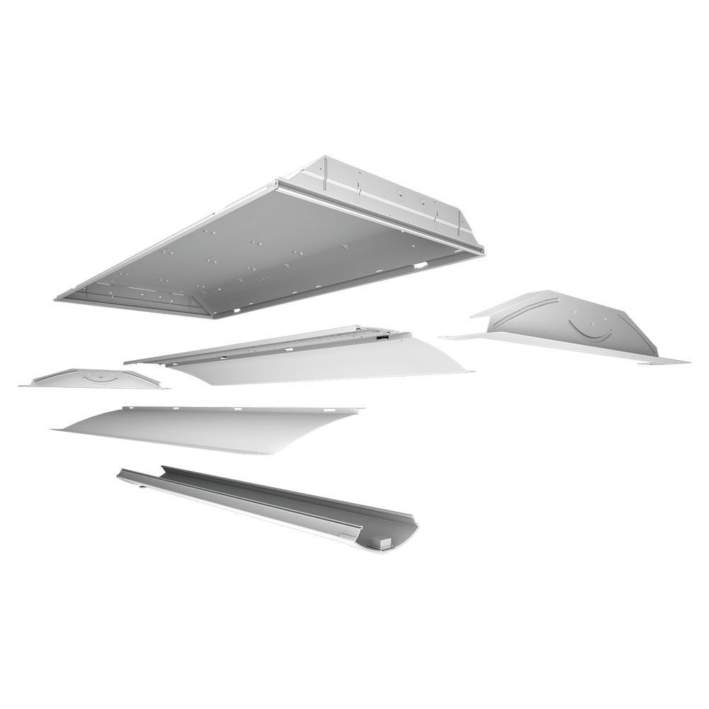 Cruze 2 ft. x 4 ft. White Integrated LED Troffer Retrofit Kit 4000K Color Temperature Cool White