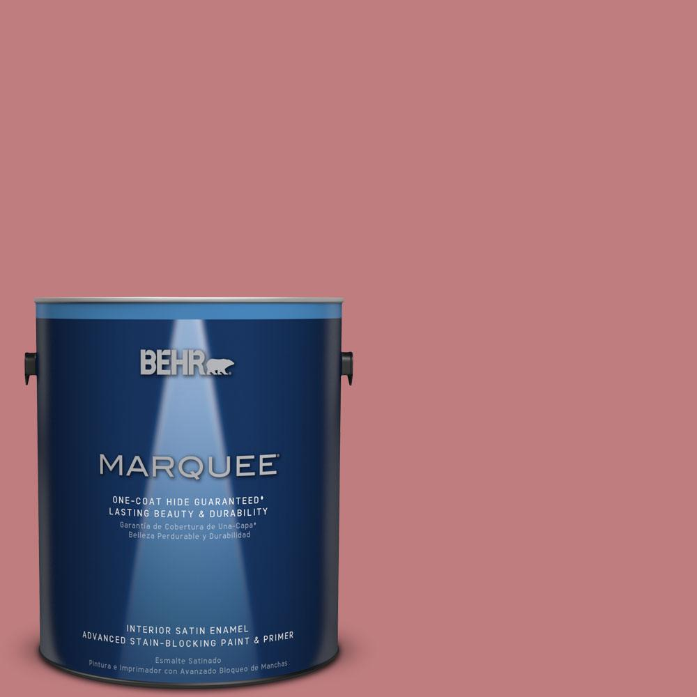 1 gal. #MQ1-12 Chick Flick One-Coat Hide Satin Enamel Interior Paint