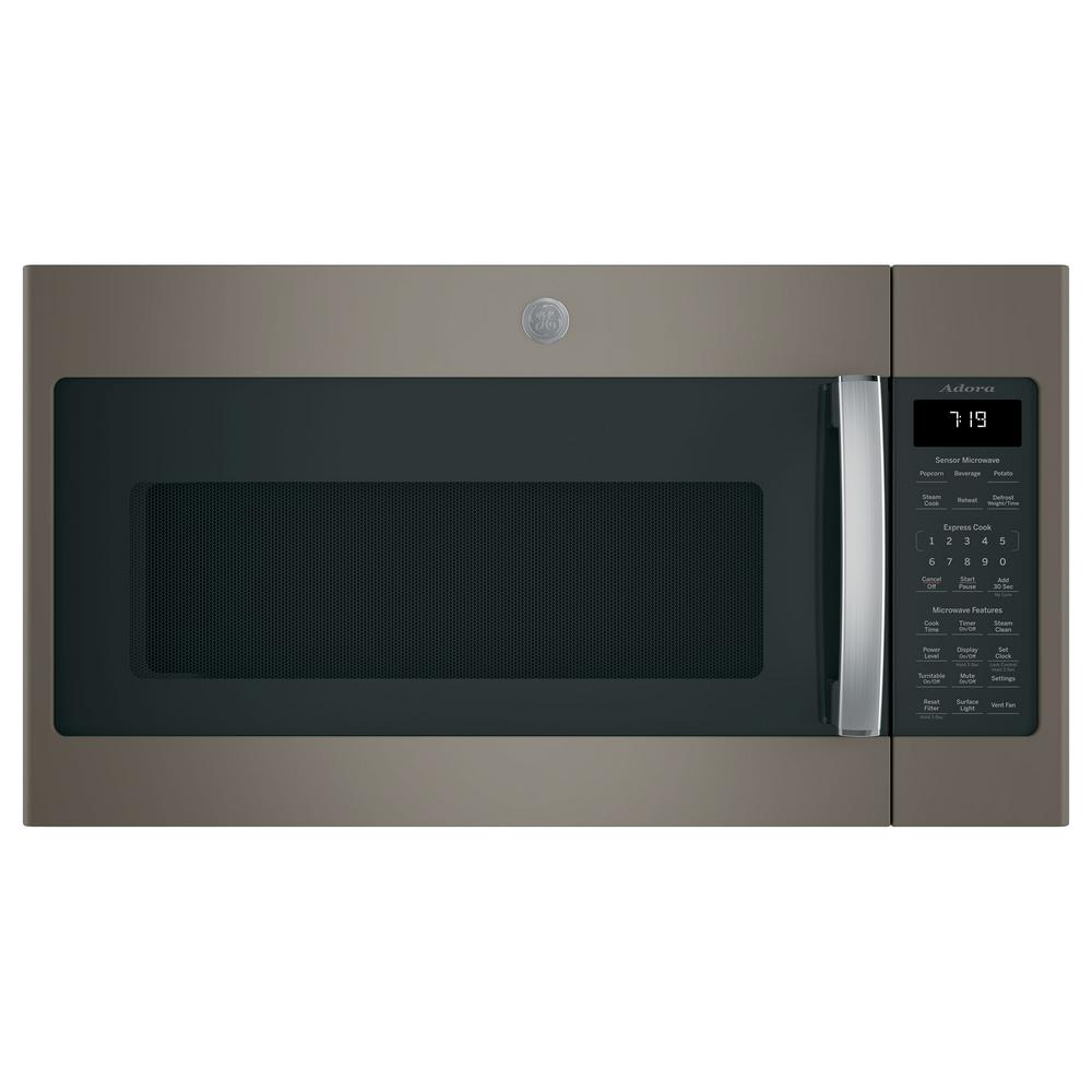 GE Adora 1.9 cu. ft. Over the Ran Microwave in Slate with Sensor Cooking, Finrprint Resistant, Fingerprint Resistant Slate was $519.0 now $298.0 (43.0% off)