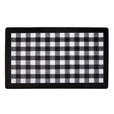 Buffalo Check Black 18 in. x 30 in. Anti-Fatigue Mat