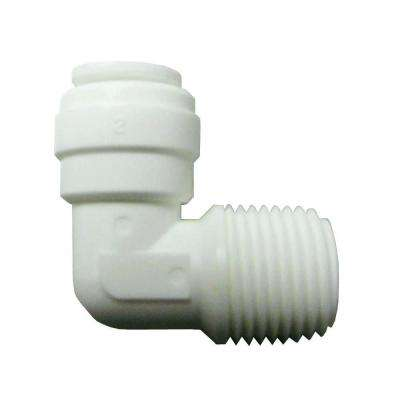 Quick Connect 1/2 in. x 3/8 in. Plastic 90-Degree OD x MPT Elbow