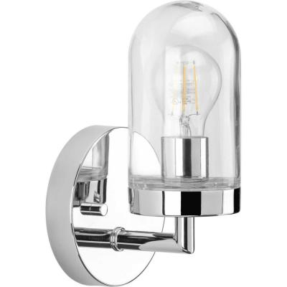 Signal 1-Light Polished Chrome Bath Light