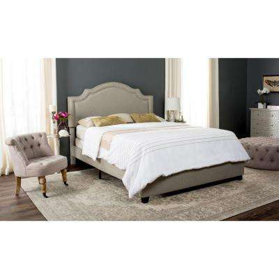 Theron Light Grey Queen Upholstered Bed