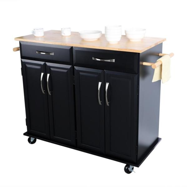 Utopia Alley Black Kitchen Cart With Storage Cabinets Handles Rolling Kitchen Island Ft75bk The Home Depot,Lebanon New Hampshire Airport