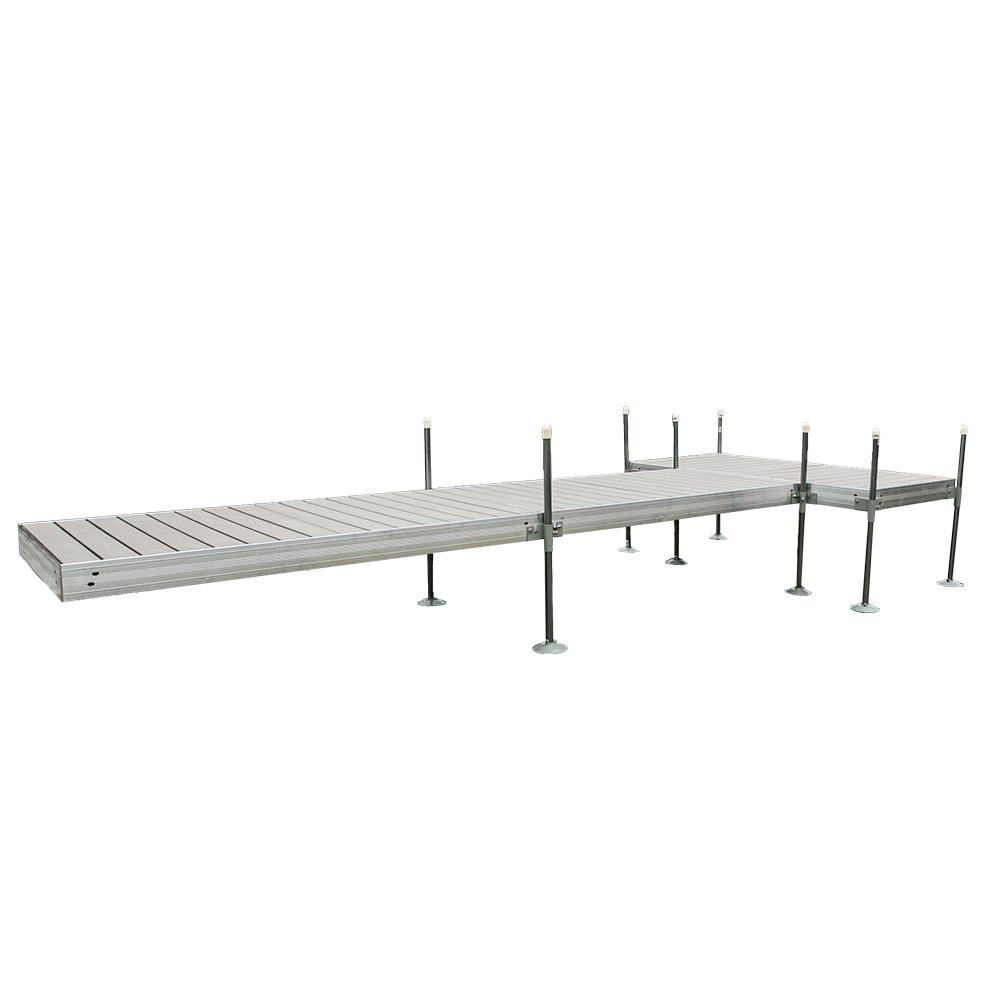 20 ft. T-Style Aluminum Frame with Decking Complete Dock Package