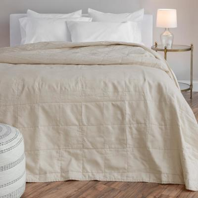 The Relaxed Linen Cotton Taupe King Quilt