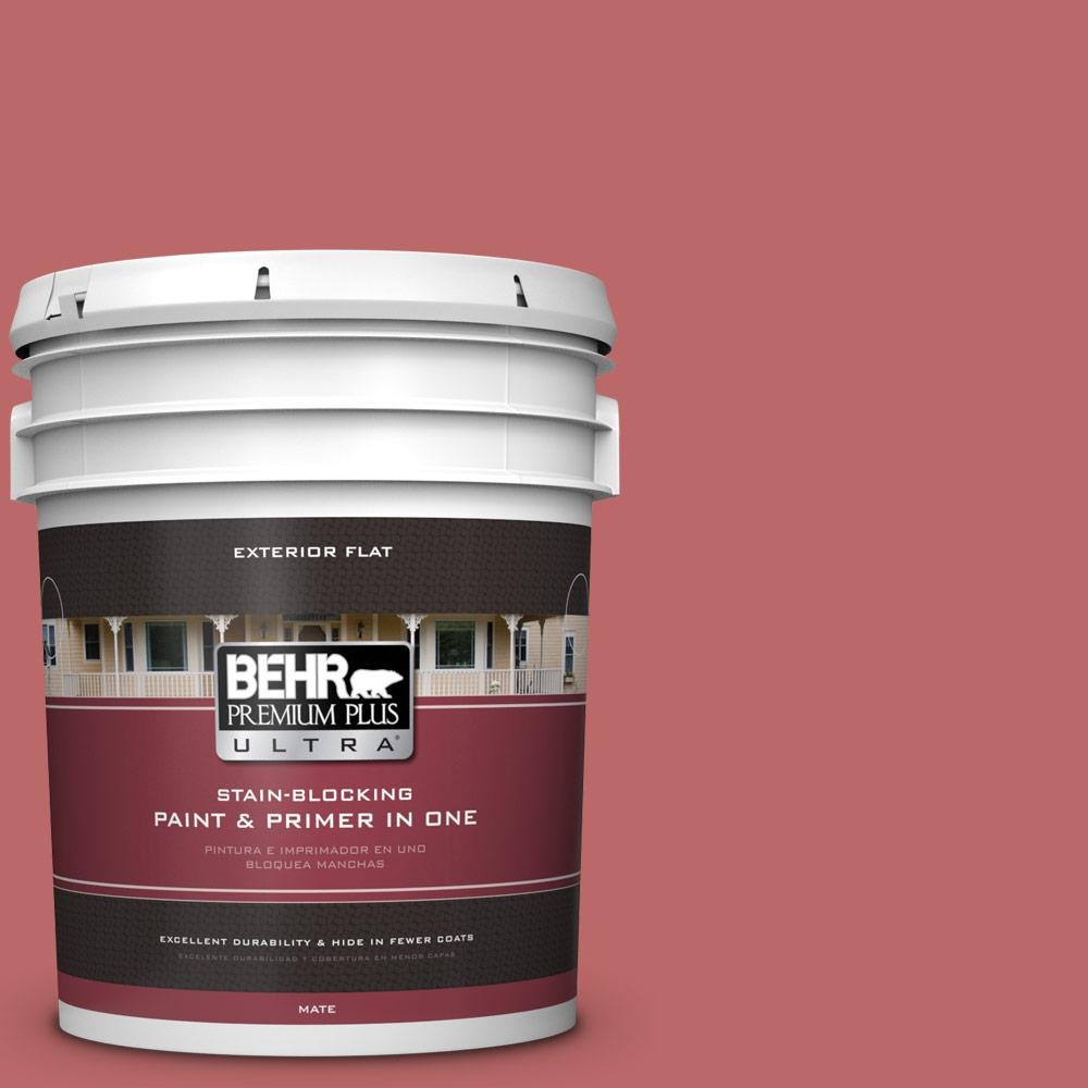 5 gal. #MQ1-11 Drama Queen Flat Exterior Paint and Primer in