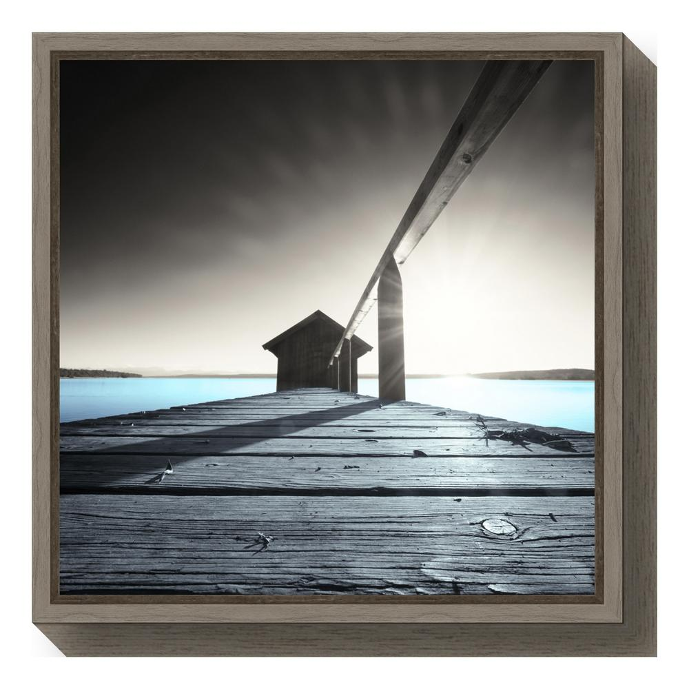 """Old Boathouse"" by Anon Framed Canvas Wall Art"