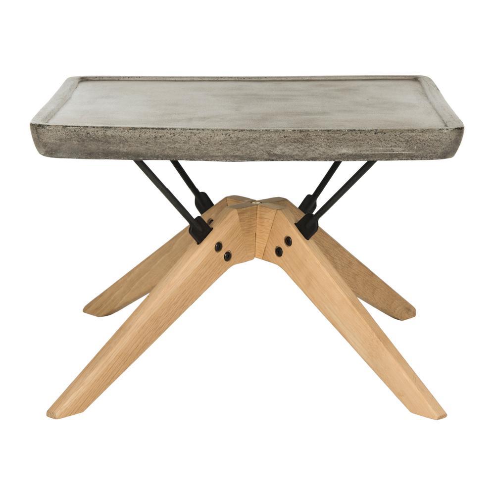 Delartin Dark Gray Stone Indoor Outdoor Coffee Table