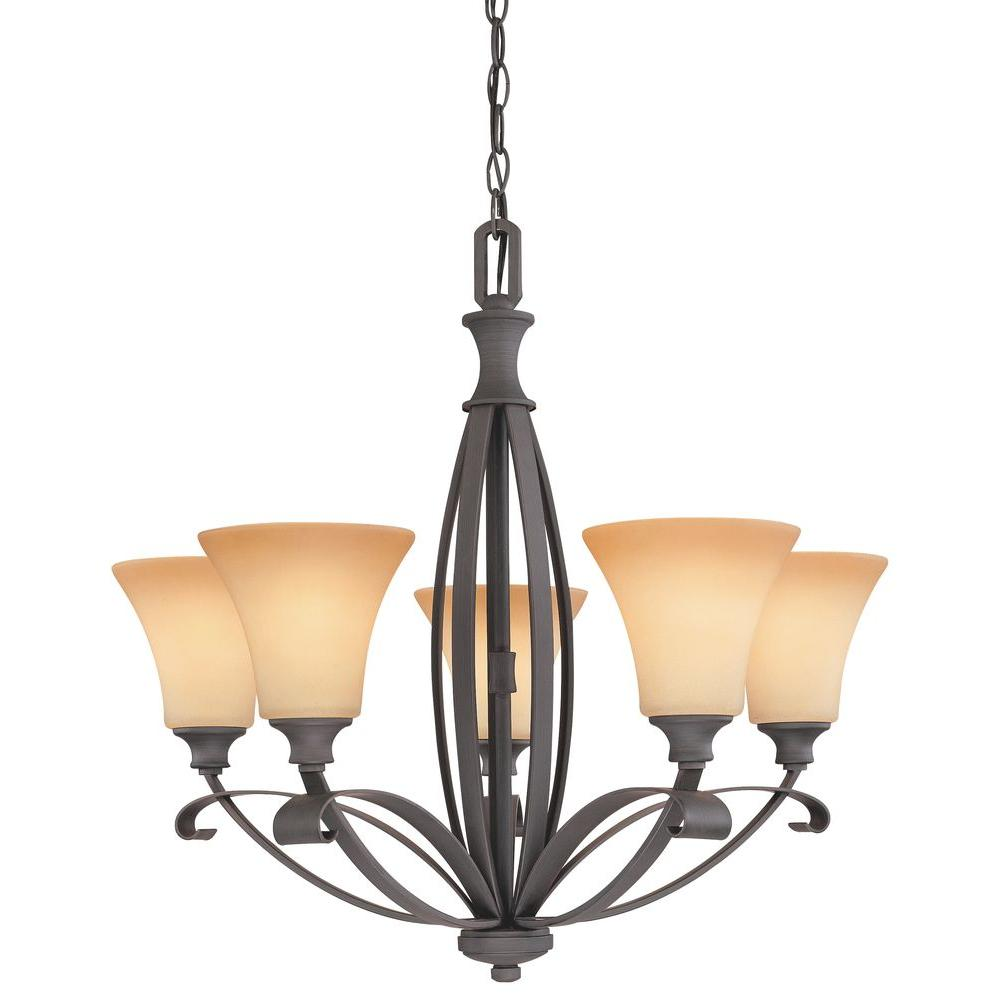 Thomas Lighting Magnolia 5-Light Painted Bronze Chandelier-DISCONTINUED